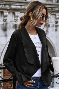 Walk With Me Suede Cardigan Jacket