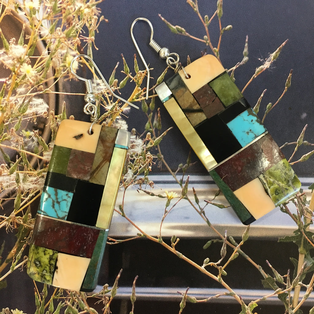 Bryan Tom Inlay Earrings