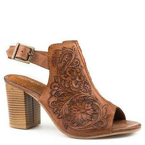 Women's Mika Tooled Leather Mule