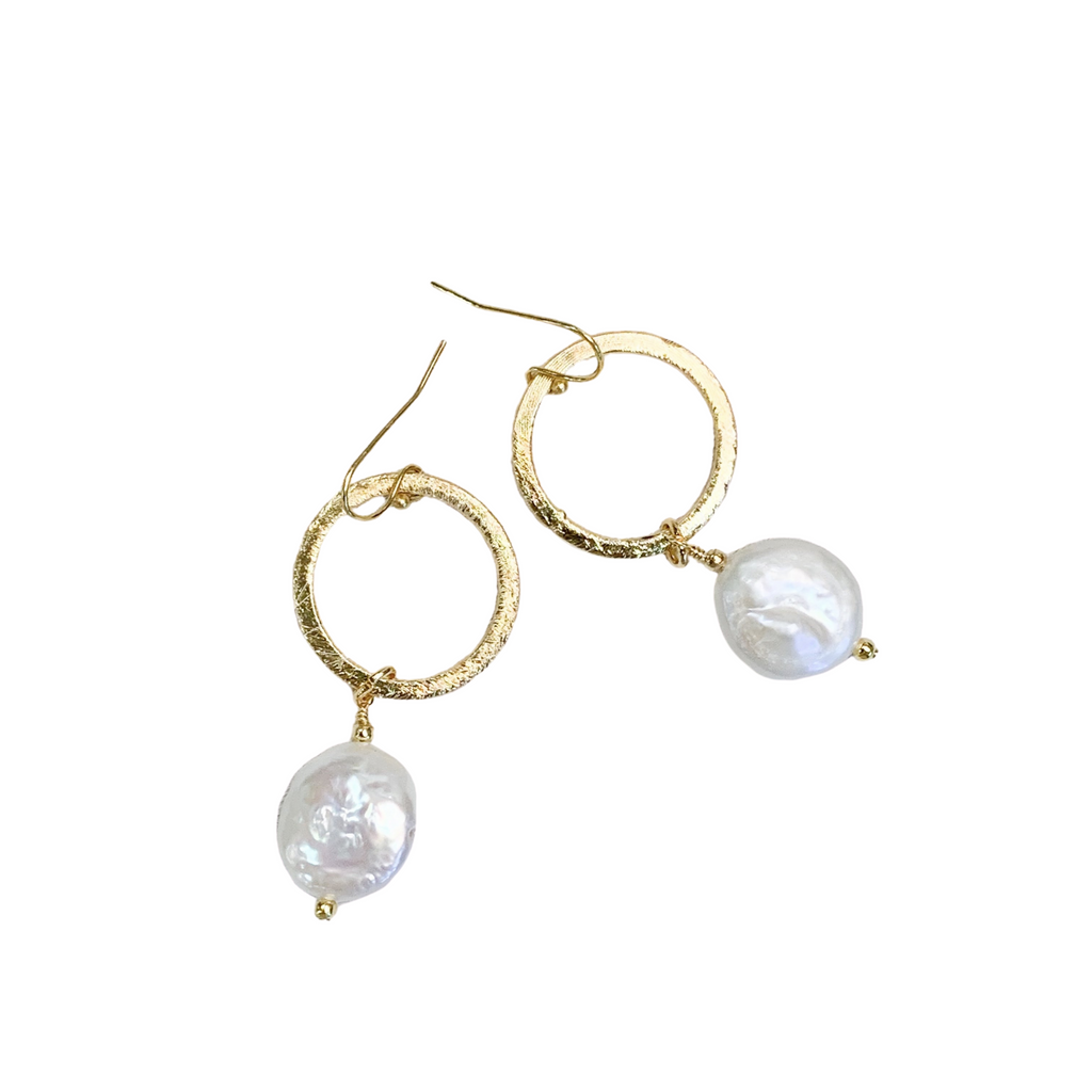 Fortuna Pearl & Gold Earrings