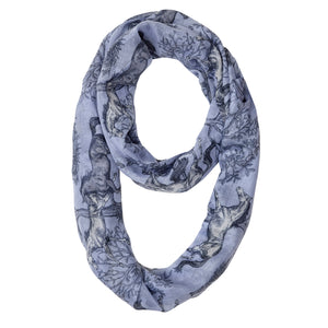 Lila Blue Toile Infinity Scarf
