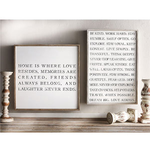 Home Resides Framed Wall Art