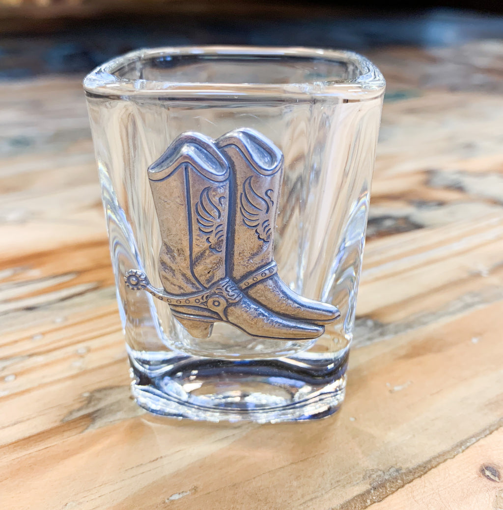 Cowboy Boots Shot Glass