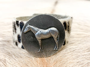 Mattingly Hair-On Leather Equestrian Wrap Bracelet