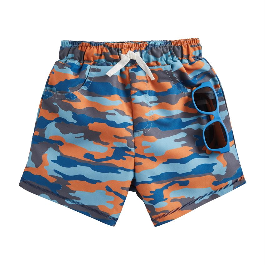 Camo Swim Trunks With Sunglasses
