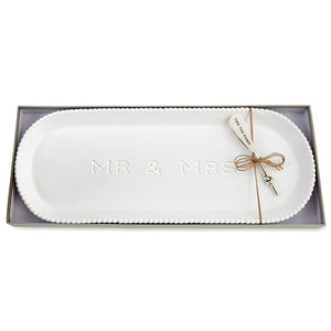 Mr. & Mrs. Beaded Hostess Tray Set