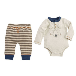 Bear Striped Two Piece Set