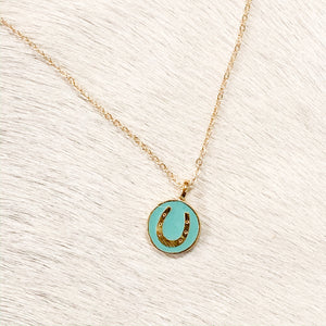 Lucky Gold Horseshoe Necklace