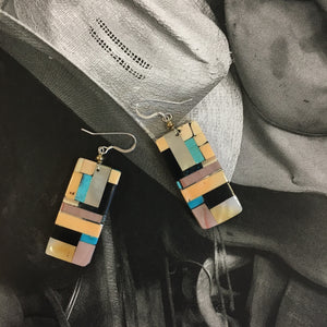 Byran Tom Multistone Inlay Earrings