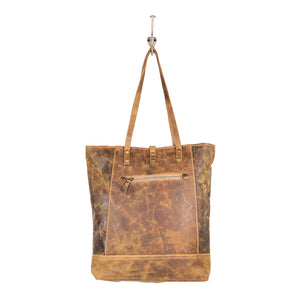 Fleece Leather Tote Bag