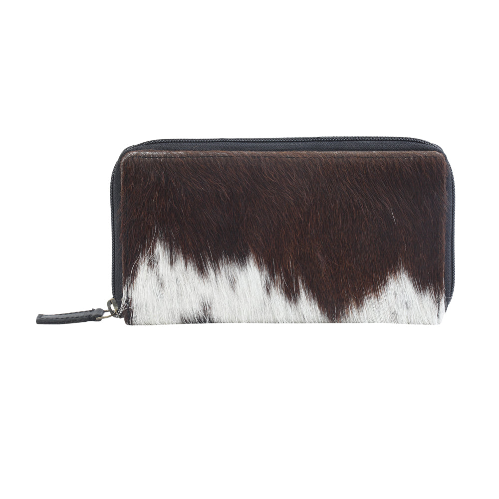 Just Tweet Leather Hairon Wallet