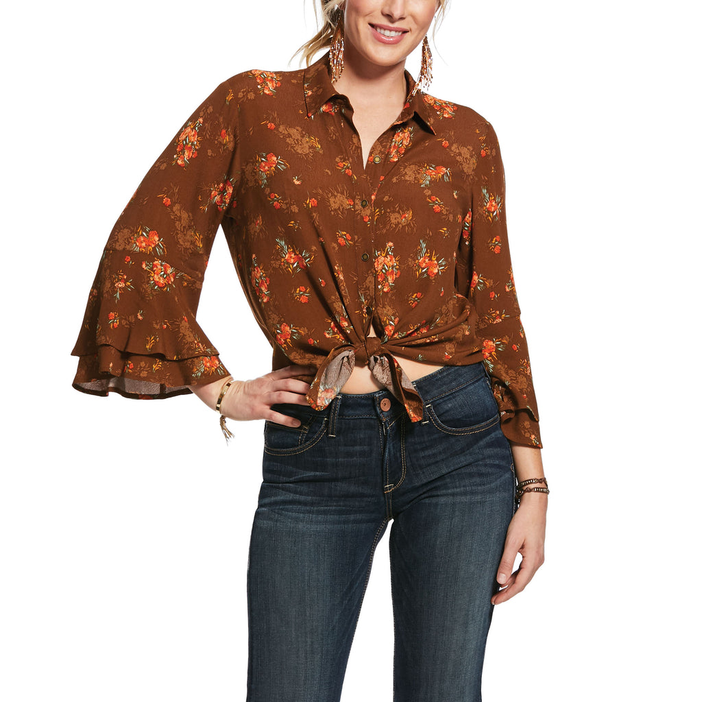 Ariat Wild Flower Long Sleeve Top