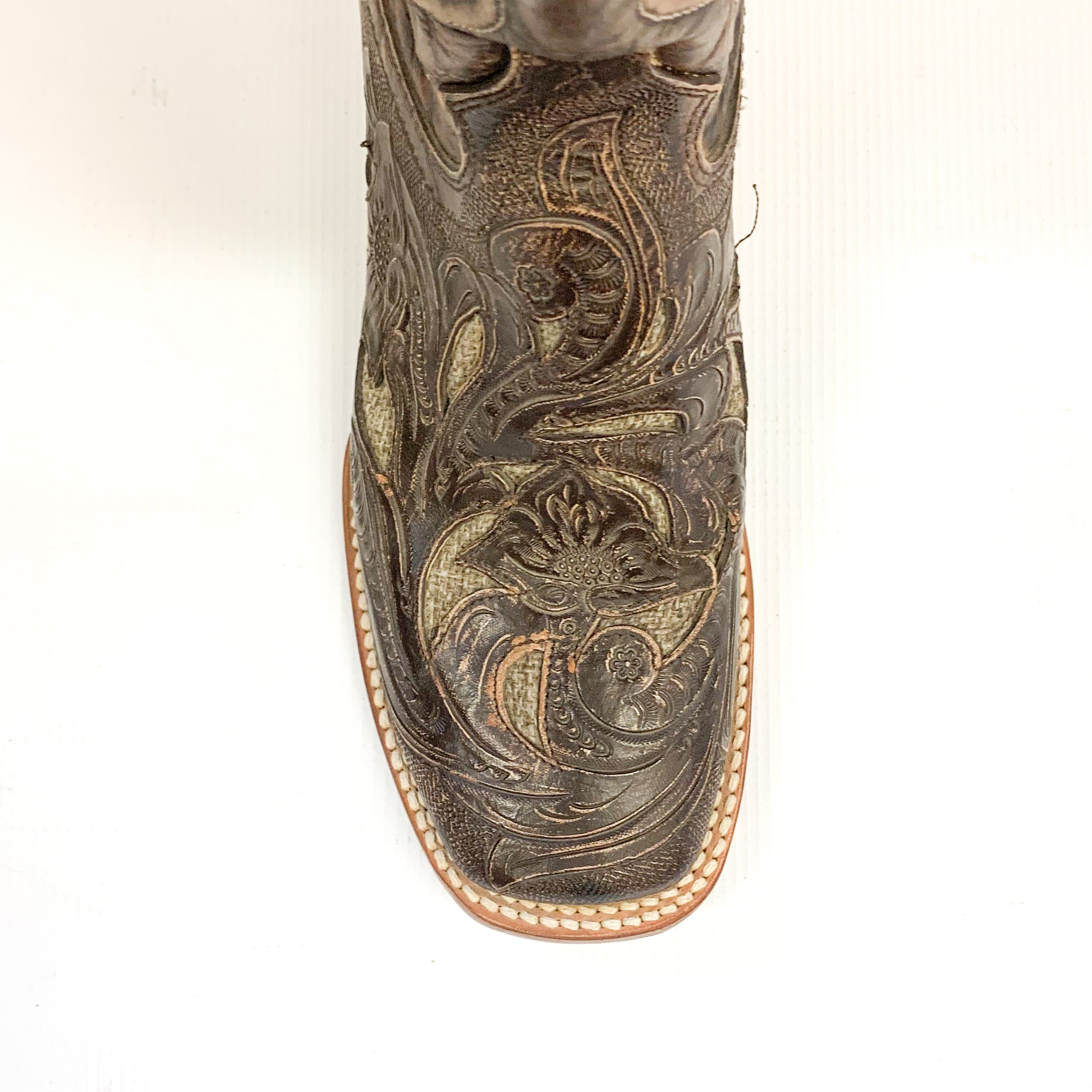 Stetson Filigree With Jute Underlay Cowboy Boot