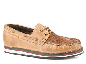 Filly Tooled Leather Boat Shoe