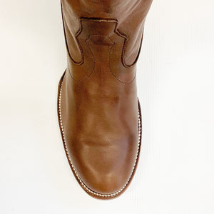Stetson Burnished Brown Ficcini Cowboy Boot