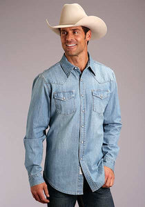 Stetson Men's Light Blue Denim Shirt