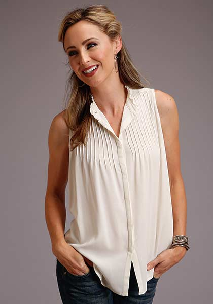 Stetson Crepe Sleeveless Blouse