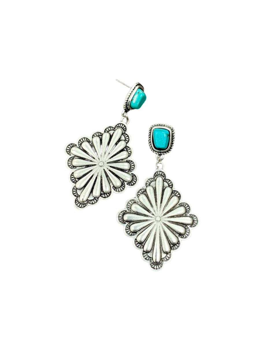 Concho Turquoise Post Earrings 722123