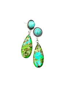 Turquoise Post Earrings 722428