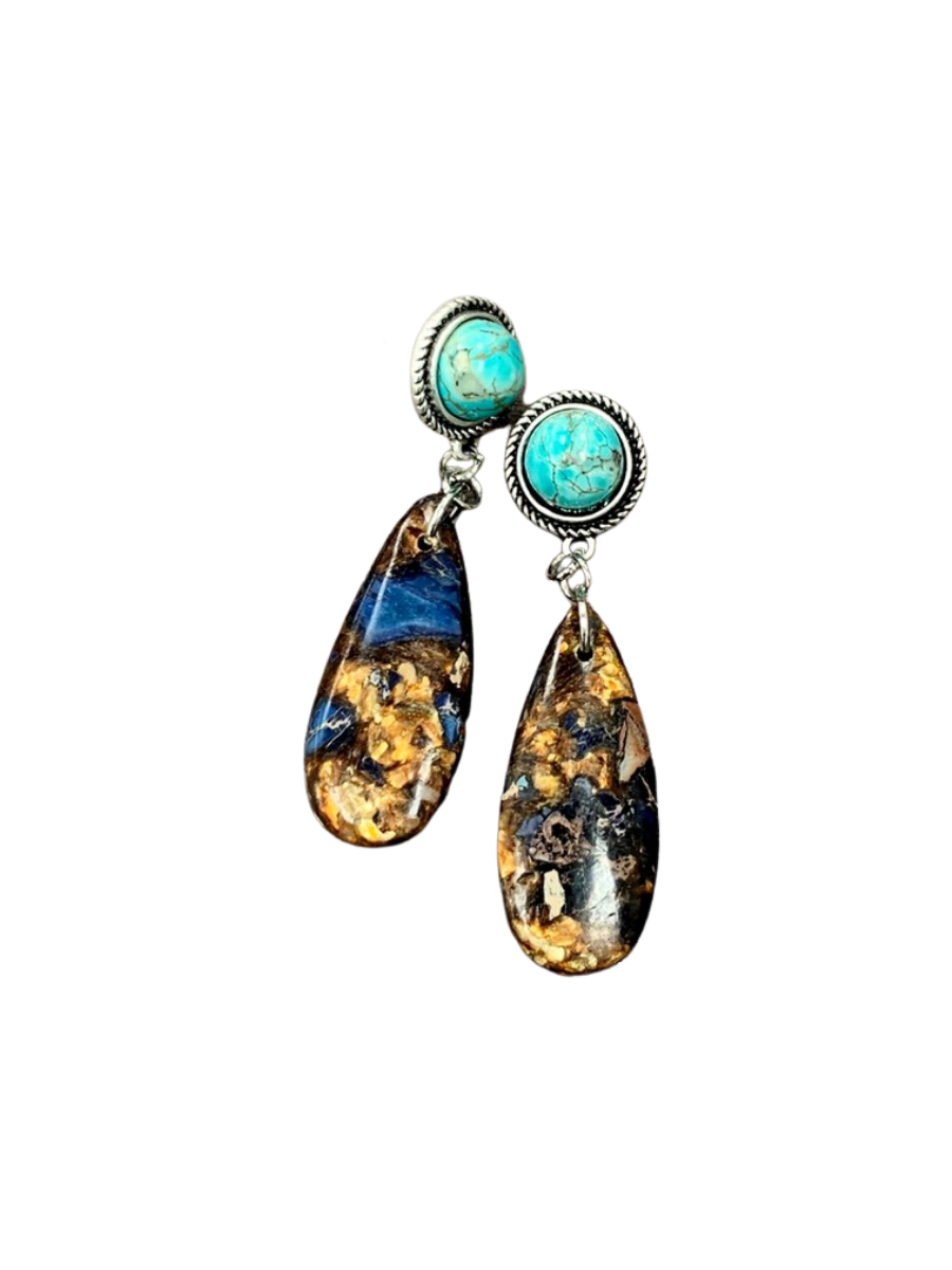 Turquoise Post Earrings 722426