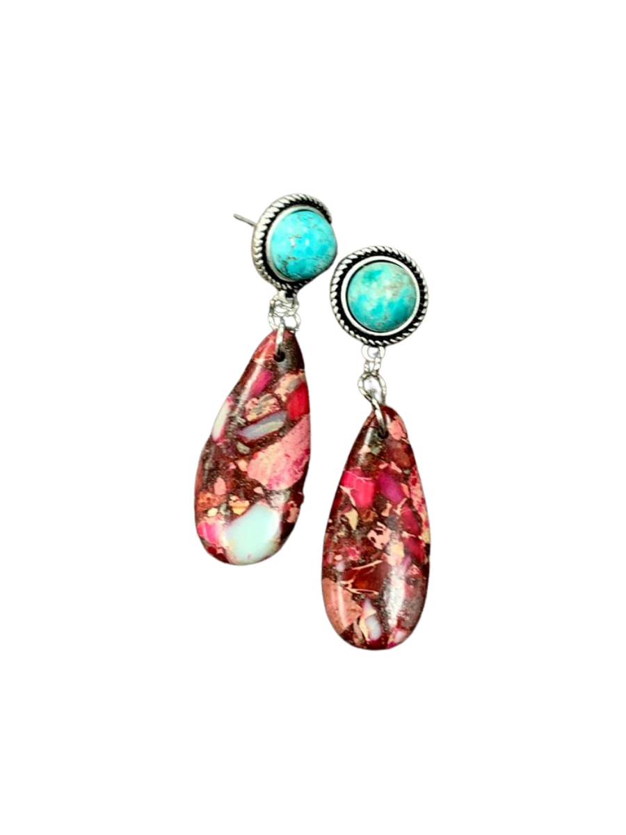Turquoise Post Earrings 722429