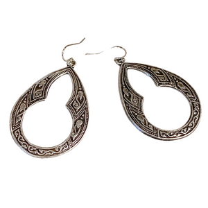Embossed Teardrop Earrings