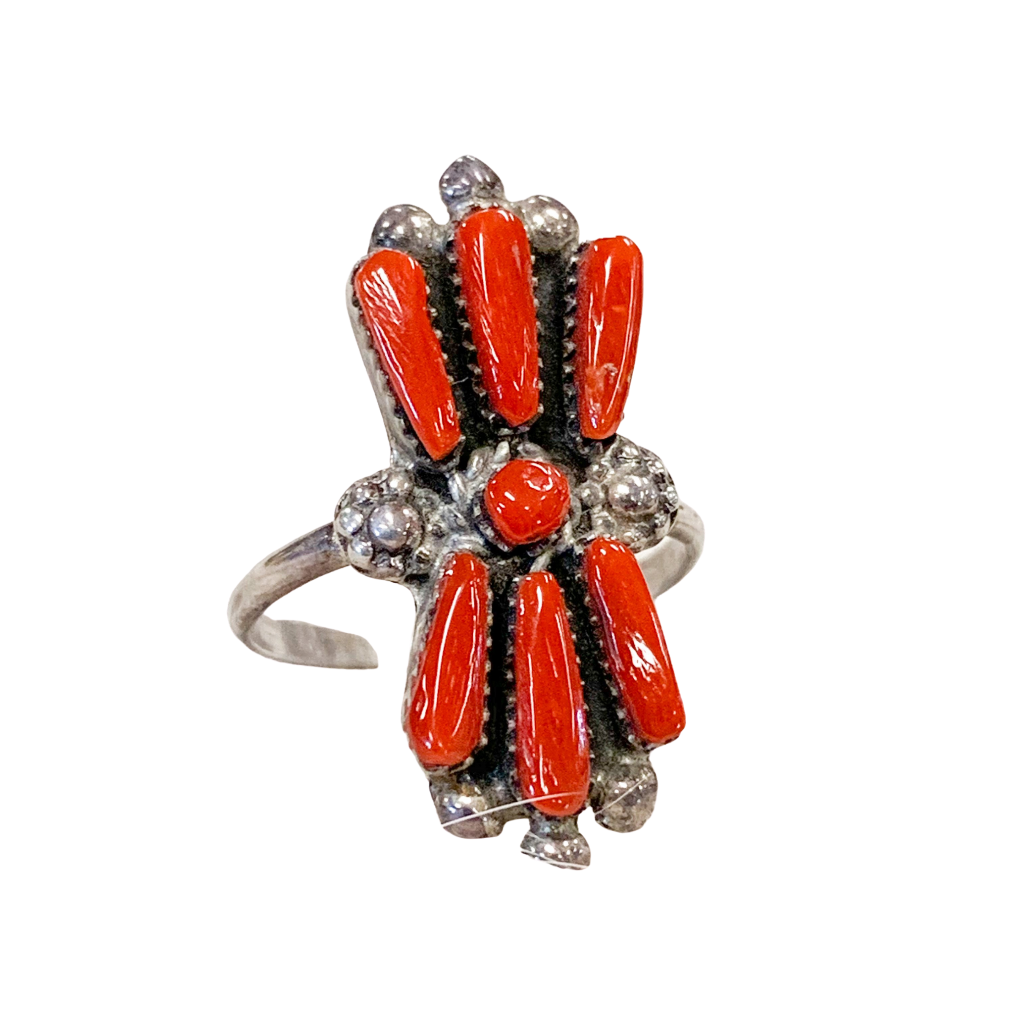 Coral Butterfly Ring