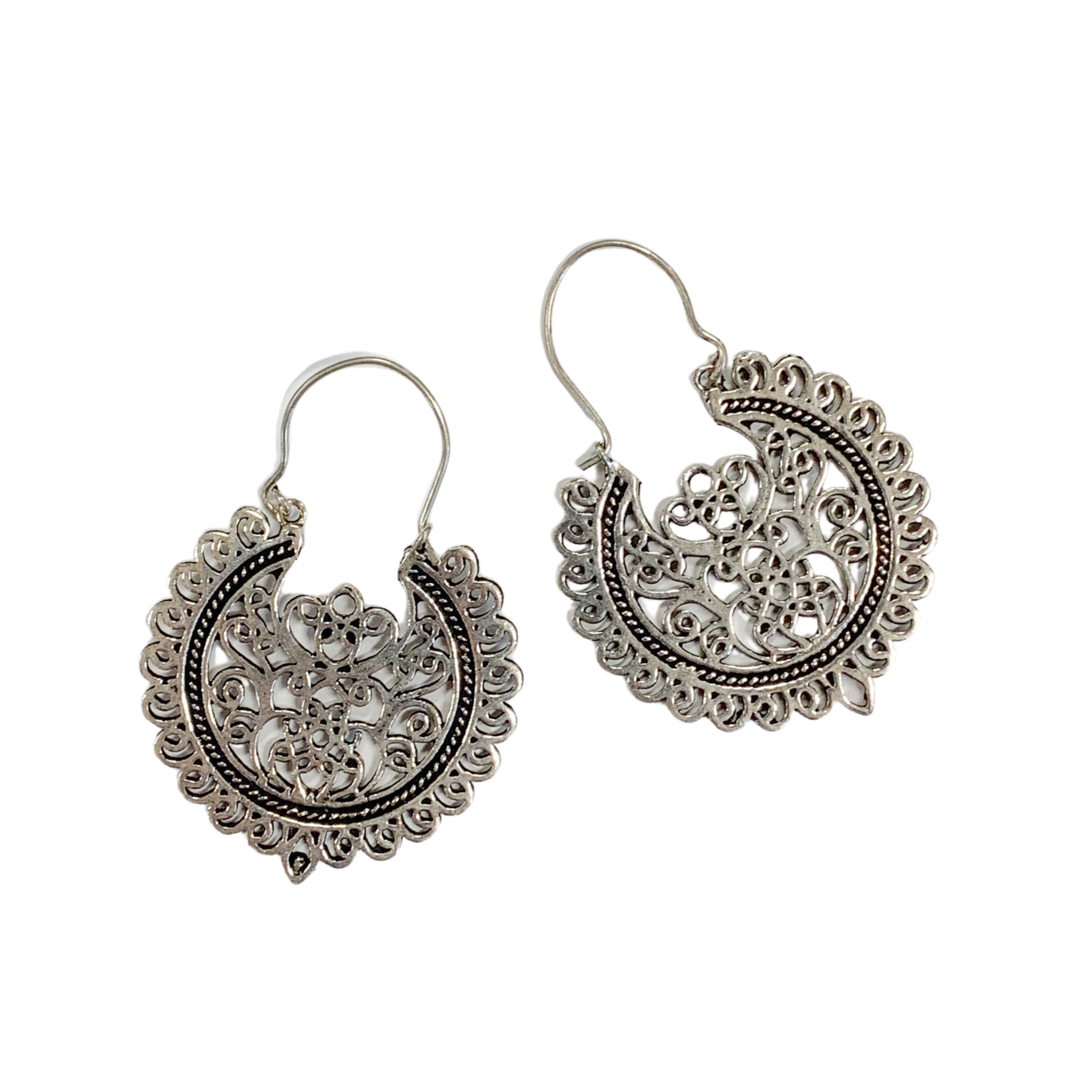 Silver & Lace Earrings