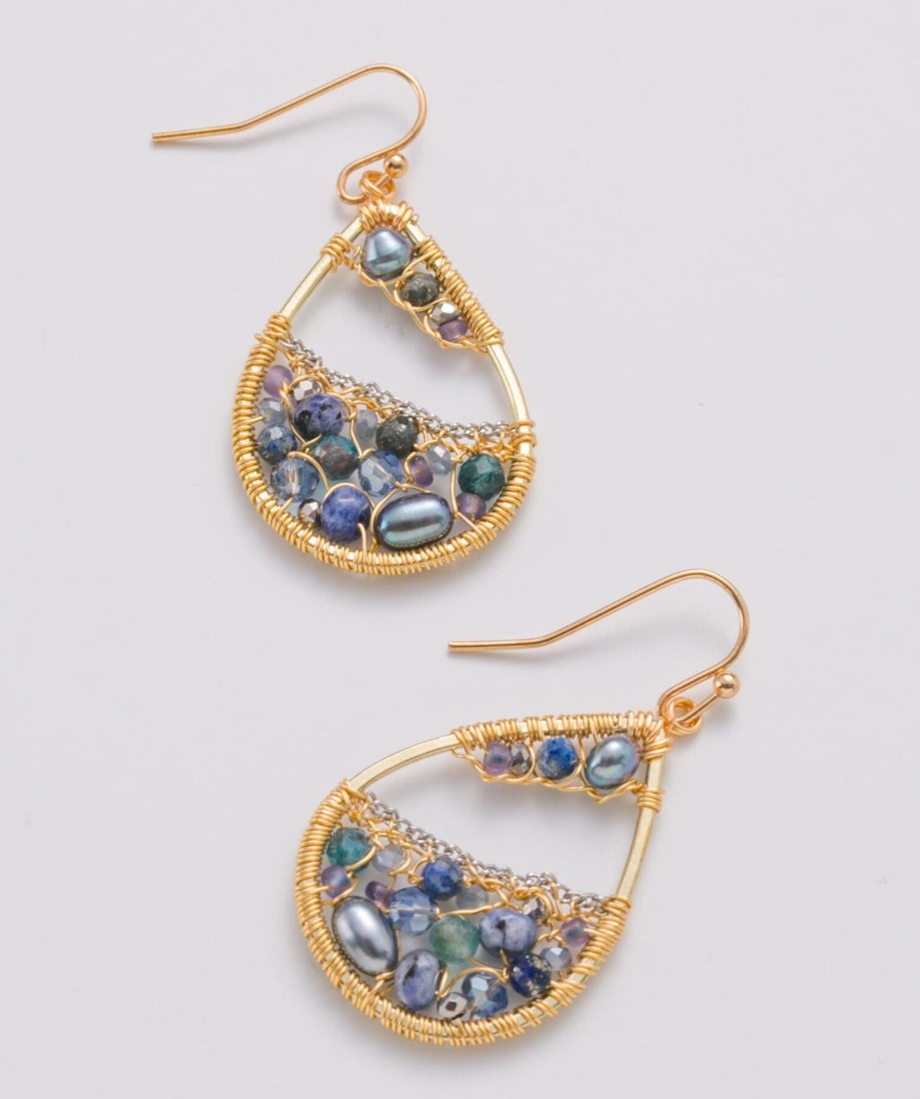 Reflections Of Blue Earrings
