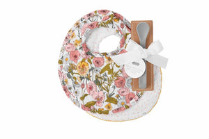 Floral Muslin Bibs & Spoon Set