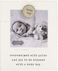 Baby Boy Magnet Wood Frame