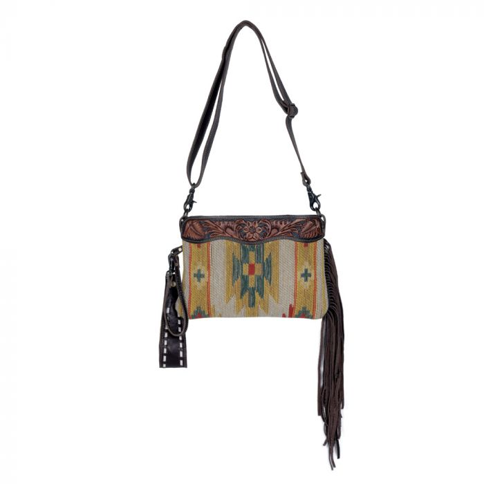 Dazzling Yellow Hand Tooled Bag