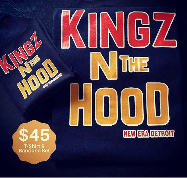 """Kingz N the Hood"" T-Shirt & Bandana Set"
