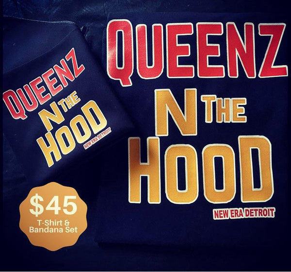 """Queenz N the Hood"" T-Shirt & Bandana Set"