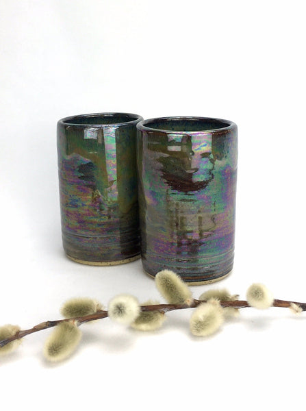 4 oz. Wheel Thrown Tumbler - Set of 2