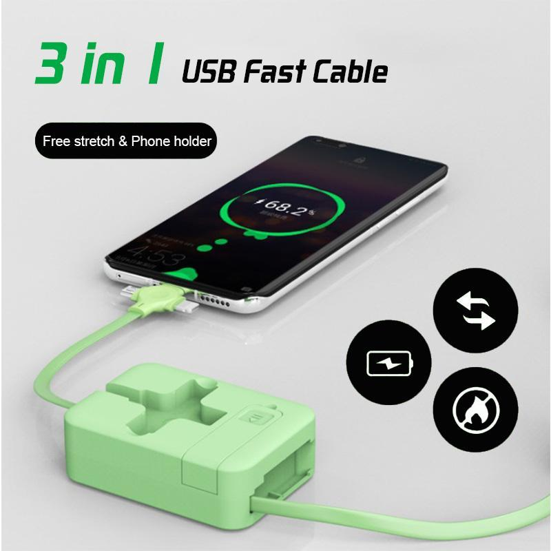 4-in-1 Data Cable Phone Stand