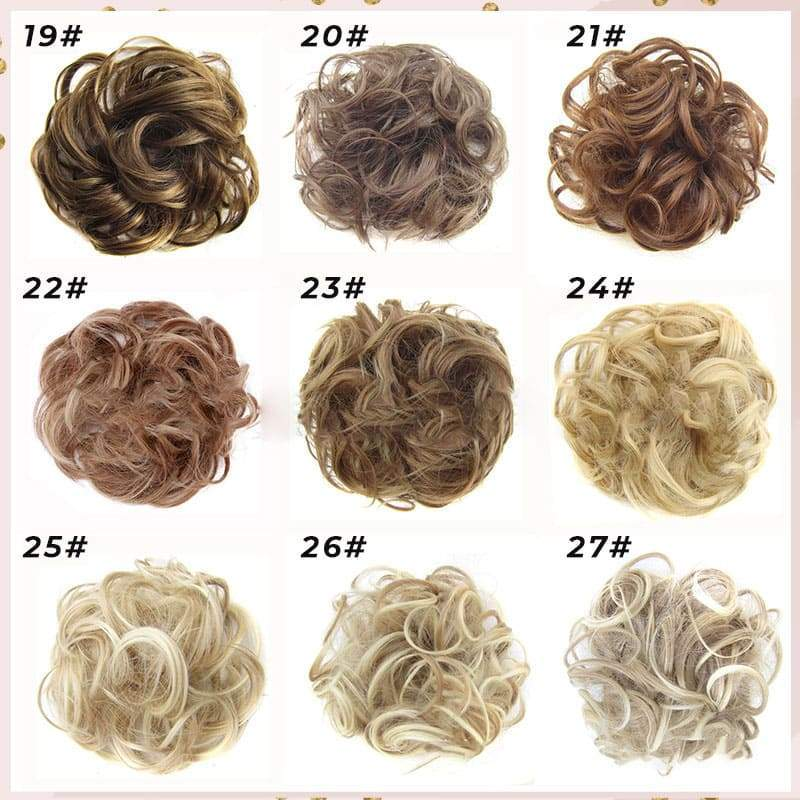 74 Colors Easy-To-Wear Stylish Hair Scrunchies