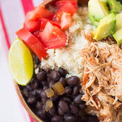 Chicken Burrito Bowl Recipe for Your Coconut Bowl