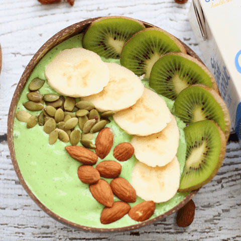 Green smoothie coconut bowl bowl