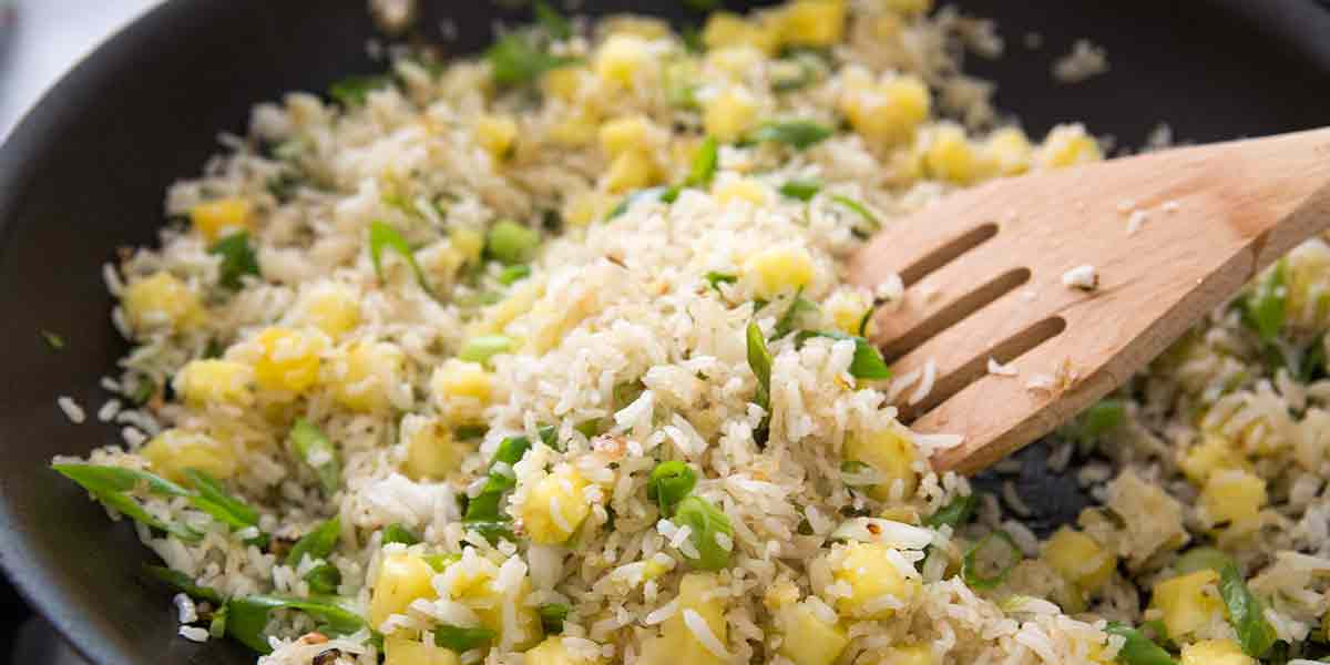 Pineapple Fried Rice Coconut Bowl