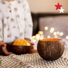Coconut candle Christmas gift