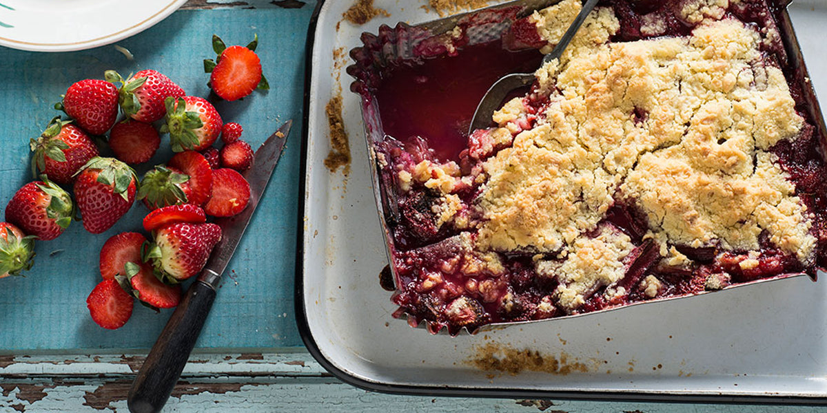Rhubarb Berry Crumble Coconut Bowl