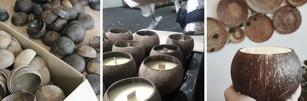 Making your very own coconut candle from a shell