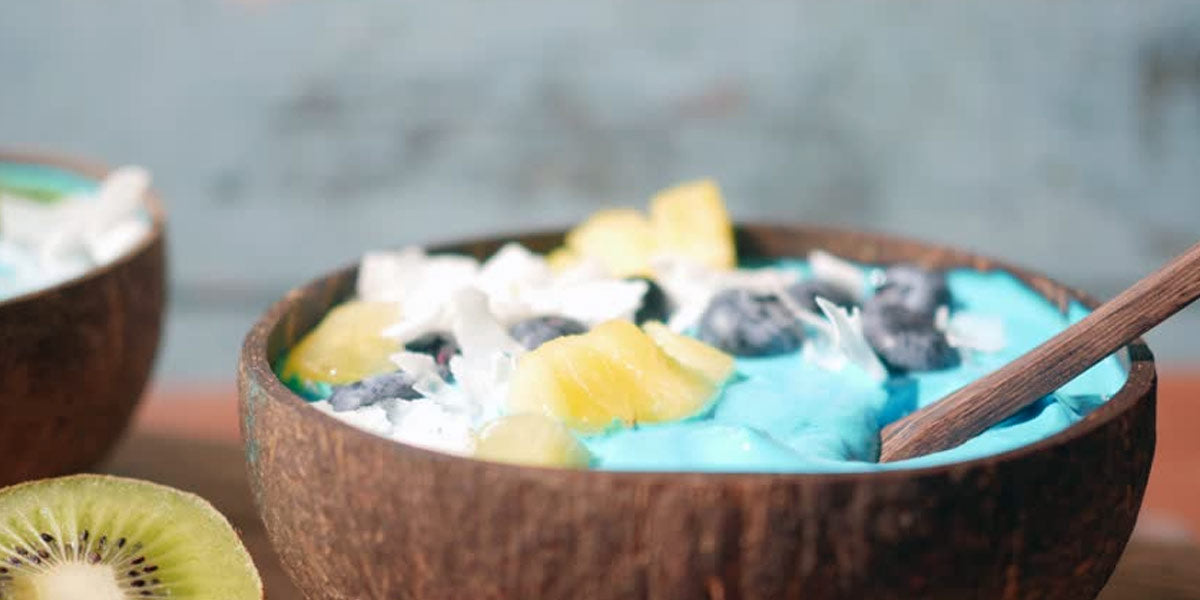Superfoods Blue Coconut Bowl