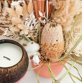 Coconut candles wholesale