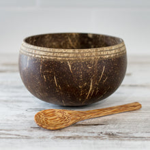 Load image into Gallery viewer, Boho Coconut Bowl with Spoon