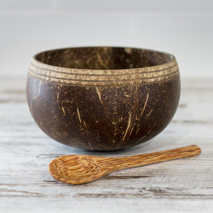 Boho Coconut Bowl with Spoon