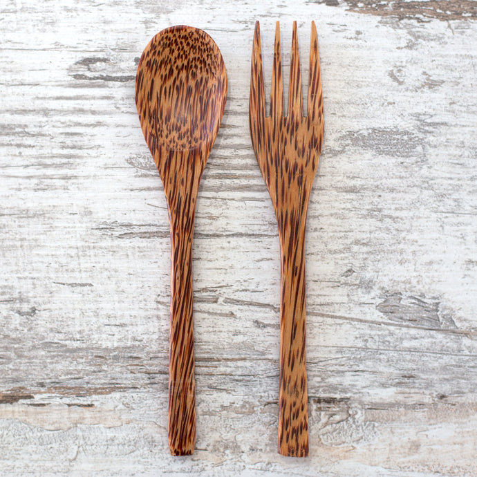 Coconut Wood Spoon and Fork
