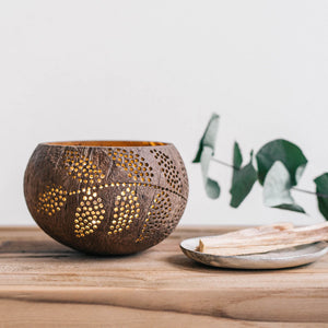Coconut Shell Candle Holder