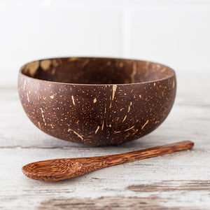 Coconut Bowl Set for One with Spoon